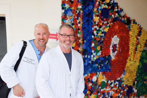 Dr. Kelley and Dr. Piazza at the Moore Pediatric Surgery Center in Guatemala City