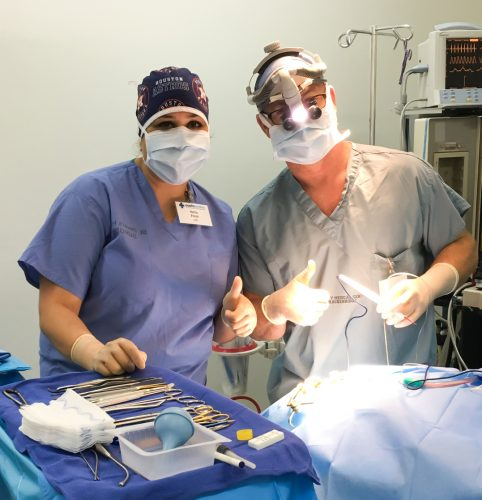 Dr. Kelley in the OR
